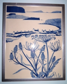 This is a tea towel I bought in Skye as I couldn't afford one of the artist's prints. The tea towel was affordable and I could frame it! It does remind me of a lovely time I spent there.