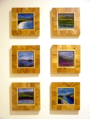 A group of small felted images I did of Skye. These aer all memorable places I visited the first time we went there. I love the blues and purples and intensity of colours in these.