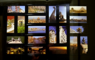 Another travelling memory collection - taken from Moo cards. Again, the blue and golds and oranges are prevalent. L-R top - bottom: Copenahgen, Turkey, Stockholm, London, Cairo, Florence, Istanbul, Parc Guell, Hampton Court, Rhodes, St Petersburg, Lisbon, Venice, Estonia, Miami, Venice, Venice, Mount Etna, Venice, Copenhagen.