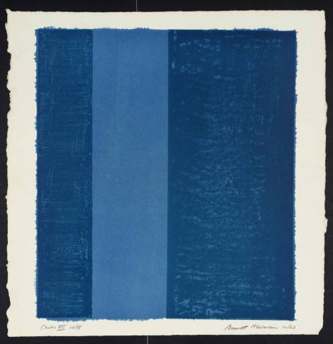 Barnett Newman (1905‑1970) Canto VII From Eighteen Cantos 1963-4 Lithograph on paper 375 x 334 mm Presented by Mrs Annalee Newman, the artist's widow 1972  © ARS, NY and DACS, London 2002