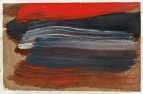Muddy, bloody red ... Pain, one of Hodgkin's new works. Photograph: Howard Hodgkin, courtesy Gagosian gallery