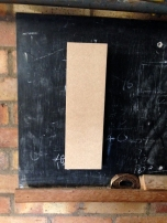 Allows mdf panel to 'float' off the wall