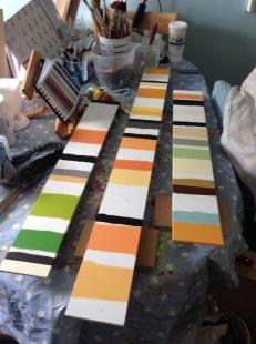 3 panels in progress